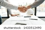 architect and engineer... | Shutterstock . vector #1433512490