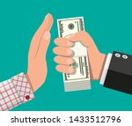 hand giving money to other hand.... | Shutterstock .eps vector #1433512796