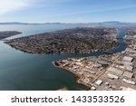 aerial of alameda insalnd and... | Shutterstock . vector #1433533526