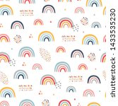 seamless childish pattern with... | Shutterstock .eps vector #1433535230