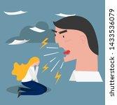 boss pressure employee  tired ... | Shutterstock .eps vector #1433536079