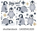 Vector Set With Cute Penguins ...
