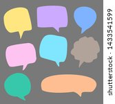 different color blank comic...   Shutterstock .eps vector #1433541599