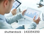 close up of business people... | Shutterstock . vector #143354350