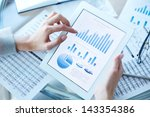 above view of businesswoman... | Shutterstock . vector #143354386