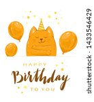 birthday greeting card in... | Shutterstock . vector #1433546429