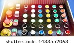 samples of electrical buttons... | Shutterstock . vector #1433552063