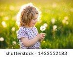 adorable cute little baby girl... | Shutterstock . vector #1433552183