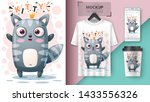 princess cat   mockup for your... | Shutterstock .eps vector #1433556326