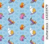 seamless background  cartoon... | Shutterstock . vector #143355979