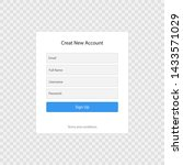 registration form page template ...