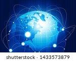 global communication network....   Shutterstock . vector #1433573879