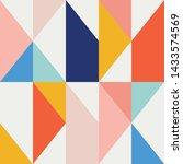 seamless vector geometric... | Shutterstock .eps vector #1433574569