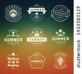 summer holidays labels and... | Shutterstock .eps vector #1433583119