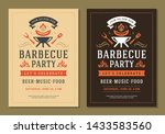barbecue party vector flyer or... | Shutterstock .eps vector #1433583560