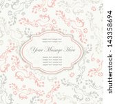 Invitation Card With Space For...