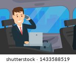 businessman working with laptop ... | Shutterstock .eps vector #1433588519