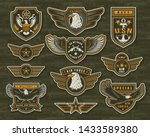 vintage armed forces insignias... | Shutterstock .eps vector #1433589380