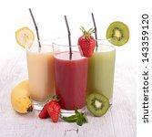 assortment of fruit juice | Shutterstock . vector #143359120