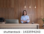 Portrait Of Receptionist At...