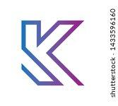 letter k  gradation  colorfull  ... | Shutterstock .eps vector #1433596160