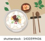 korean traditional holiday food ... | Shutterstock .eps vector #1433599436