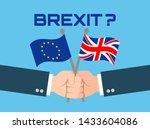 Men Holding European Union And...