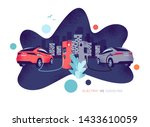 vector illustration comparing... | Shutterstock .eps vector #1433610059