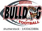 bulldog football team design... | Shutterstock .eps vector #1433623886