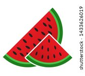 sliced watermelon vector icon.... | Shutterstock .eps vector #1433626019