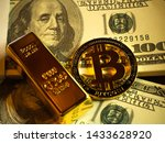 Digital Money Bitcoin Coin And...