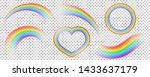 colorful transparent rainbows... | Shutterstock .eps vector #1433637179