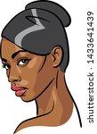 african woman face. portrait...   Shutterstock .eps vector #1433641439