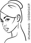 african woman face. portrait...   Shutterstock .eps vector #1433641619