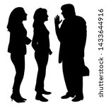 elderly woman telling an... | Shutterstock .eps vector #1433644916