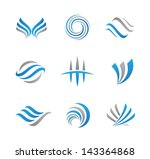 abstract symbols and icons | Shutterstock .eps vector #143364868