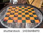 Old Fashion Checkers On Top Of...
