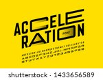 acceleration style font design  ... | Shutterstock .eps vector #1433656589