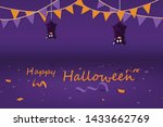 halloween party  confetti and... | Shutterstock .eps vector #1433662769