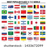 most popular flags in the world.... | Shutterstock .eps vector #1433672099