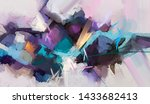 abstract colorful oil painting... | Shutterstock . vector #1433682413