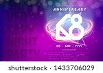 68 years anniversary logo...   Shutterstock .eps vector #1433706029