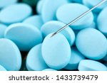 macro photo of syringe needle... | Shutterstock . vector #1433739479