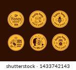 vector honey vintage logo and...   Shutterstock .eps vector #1433742143