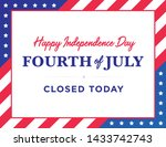 happy 4th of july independence... | Shutterstock .eps vector #1433742743