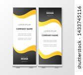modern roll up with gradient.... | Shutterstock .eps vector #1433745116