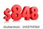848  eight hundred forty eight... | Shutterstock . vector #1433745563