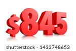 845  eight hundred forty five... | Shutterstock . vector #1433748653