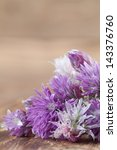 Chive Blossoms Bouquet On...