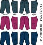 cargo shorts for men template | Shutterstock .eps vector #1433767763
